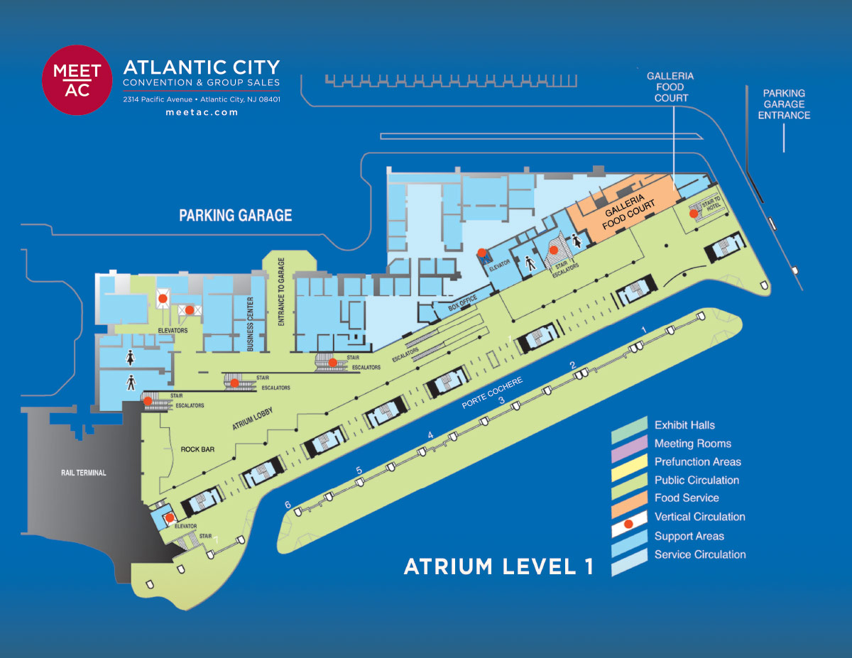 ACCC Meeting Specs | Meet AC Atlantic City Convention & Group Sales